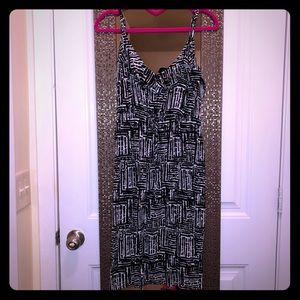Size 1 Torrid Black/White Dress